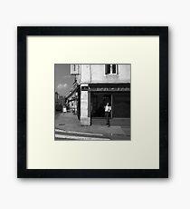 Cutting A Corner - Nancy, France Framed Print