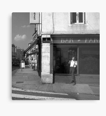 Cutting A Corner - Nancy, France Metal Print
