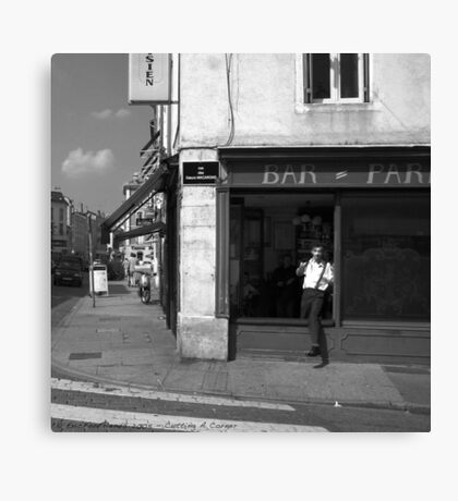 Cutting A Corner - Nancy, France Canvas Print