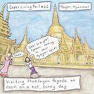 Expat Living Mistake: Shwedagon Pagoda at Noon (Yangon, Myanmar) by Kristen Palana