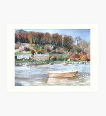 """Ratty's River"" - Lerryn, Cornwall Art Print"
