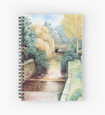 Water Steps, Roath Park, Cardiff. Spiral Notebook