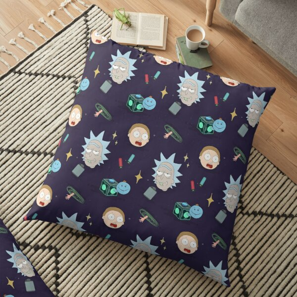 Rick and Morty's Adventure in Space (Patterns Please) Floor Pillow