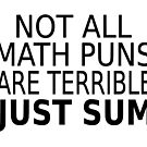 Not All Math Puns Are Terrible Just Sum by coolfuntees
