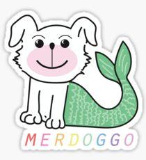 Merdoggo Logo on Pink! Sticker
