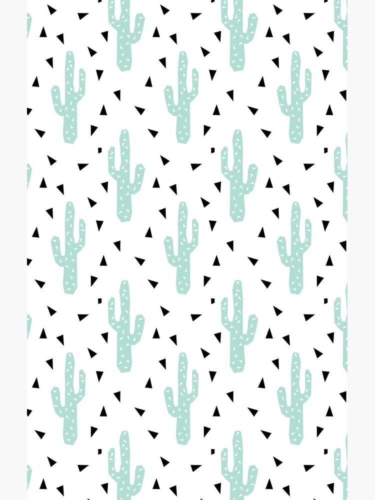 Kaktus - geometrisches modisches Hippie-Coachella Festival der modernen minimalen Musterdruckdreiecke von charlottewinter