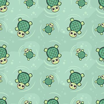 Swimming Baby Turtles by TeeVision