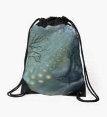 Fairytales and fireflies Drawstring Bag