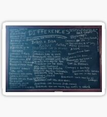 Derry Girls Protestants Catholics Differences Blackboard Sticker