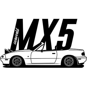 Mazda MX5 NA Side Best Shirt Design by CarWorld