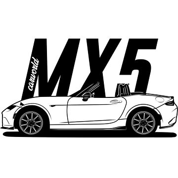 Mazda MX5 ND Side Best Shirt Design by CarWorld