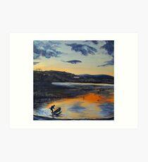 Sunset on Windermere Art Print