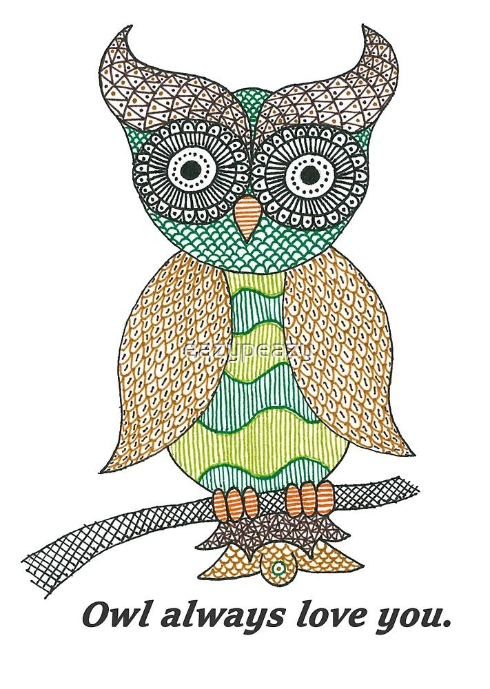 Green Owl by eazypeazy
