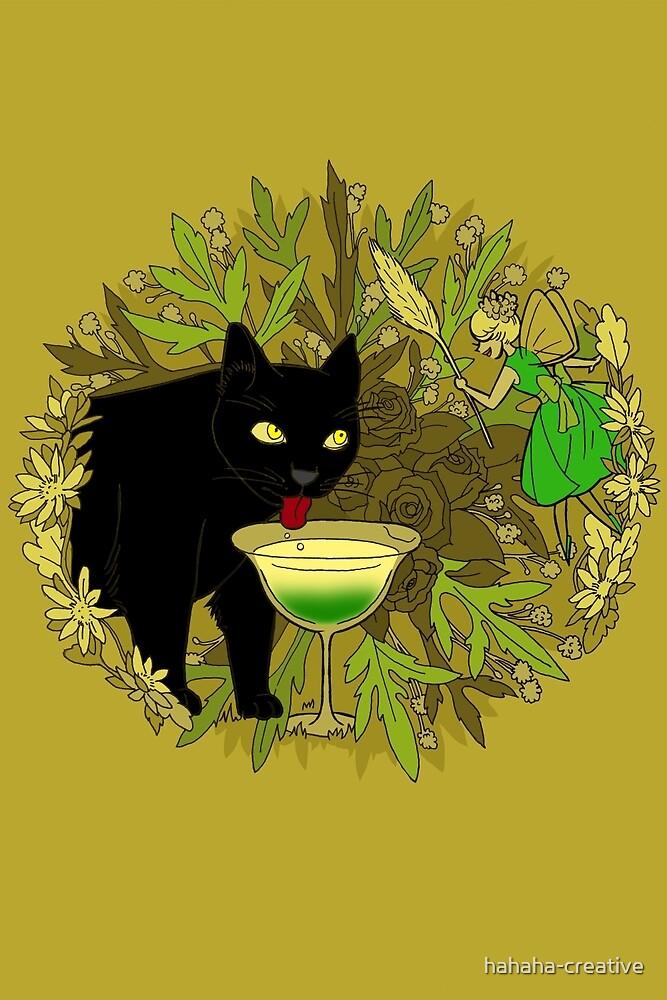 cat and green milk by hahaha-creative