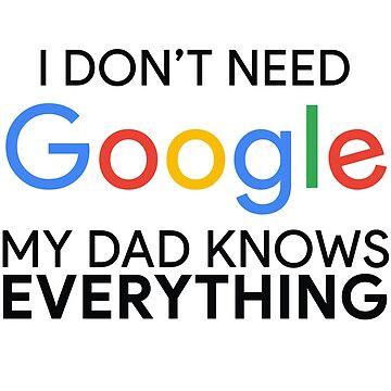 No necesito Google Mi papá lo sabe todo de MyArt23
