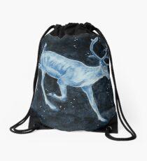 Magical, Glowing Reindeer Drawstring Bag