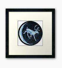 Magical, Glowing Reindeer Framed Print