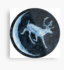Magical, Glowing Reindeer Metal Print