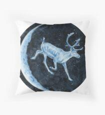 Magical, Glowing Reindeer Throw Pillow