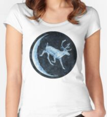 Magical, Glowing Reindeer Fitted Scoop T-Shirt