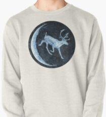 Magical, Glowing Reindeer Pullover Sweatshirt