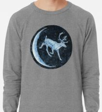 Magical, Glowing Reindeer Lightweight Sweatshirt