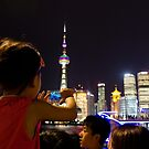 Electric View - Shanghai, China by Norman Repacholi