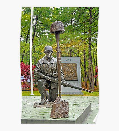 World War II Veterans Memorial Park Monument Poster