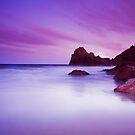 Kynance Cove, Cornwall at sunset by Hugster62