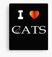 Cat heart picture. I love cats. Love Cats poison Canvas Print