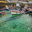 The sea at Coverack Harbour, Cornwall by Hugster62