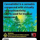 «Etiqueta de cannabis con alto contenido en CBD» de kushcoast