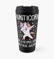 Aunticorn  Dabbing Unicorn Normal Awesome Aunt Travel Mug