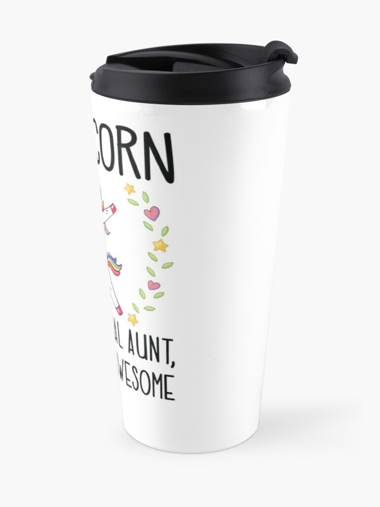 Alternate view of Aunticorn Dabbing Unicorn Aunt Gift for Auntie  Travel Mug