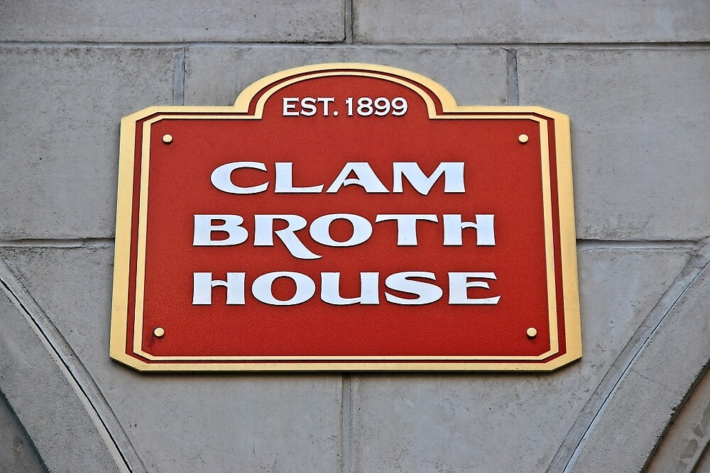 In Memory of The Original Clam Broth House Hoboken NJ by pmarella