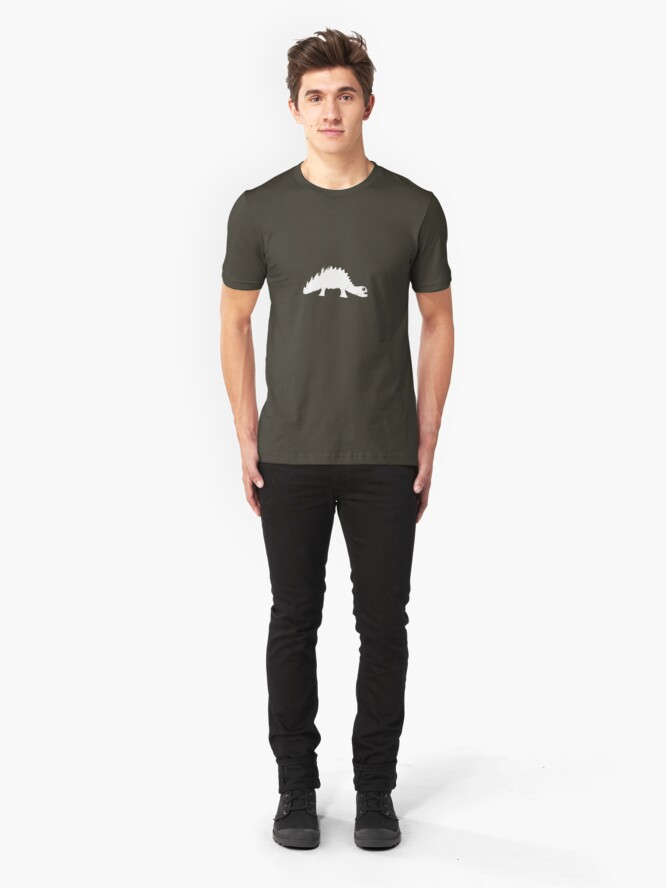 Alternate view of paper dino Slim Fit T-Shirt