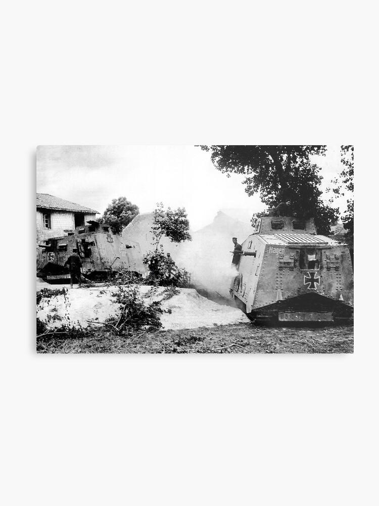 WW1 German Army Panzerwagen A7V Heavy Tank | Metal Print