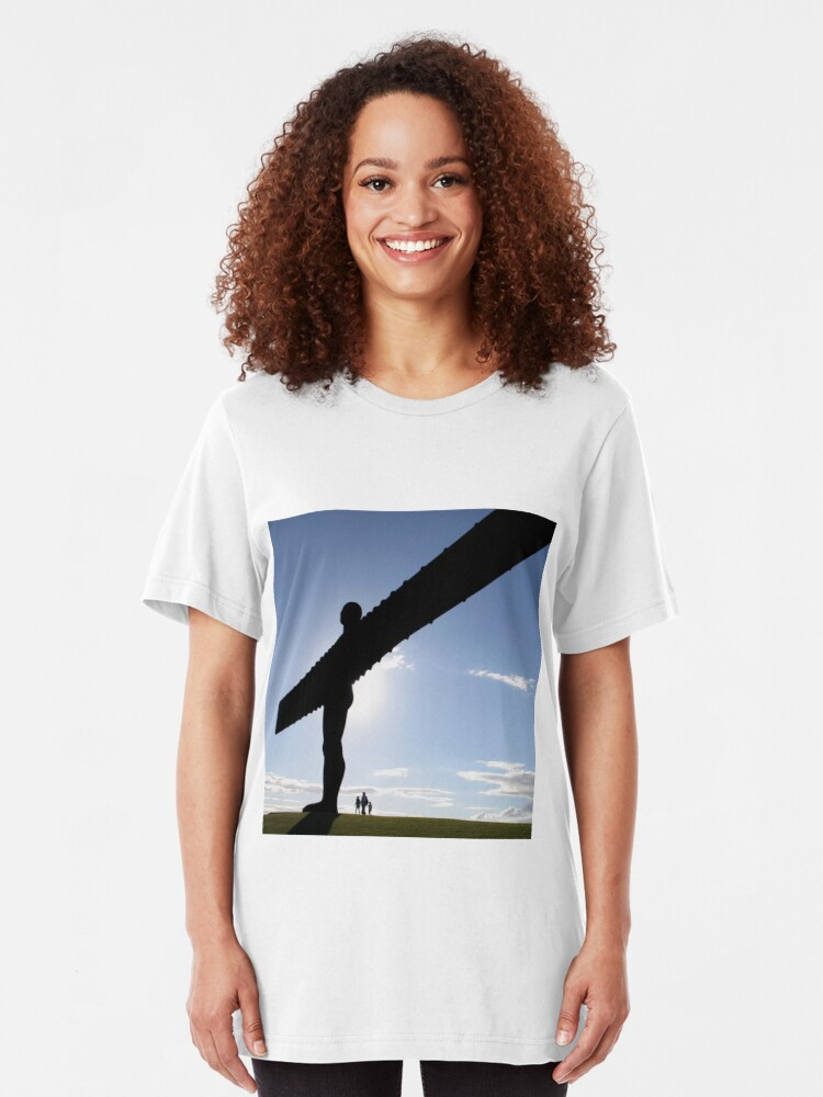 Alternate view of Angel of the North Slim Fit T-Shirt