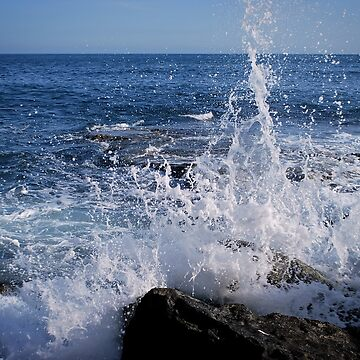 Waves Crashing on the Shoreline by laurasanders