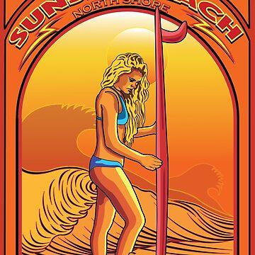 SUNSET BEACH NORTH SHORE OAHU HAWAII SURFING by theoatman