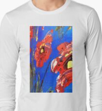 Abstract Floral Poppy Long Sleeve T-Shirt