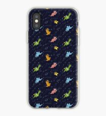 Dinosaurier im Weltraum iPhone-Hülle & Cover