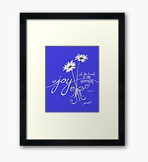 The Joy of the Lord is my Strength White Daisies Framed Print
