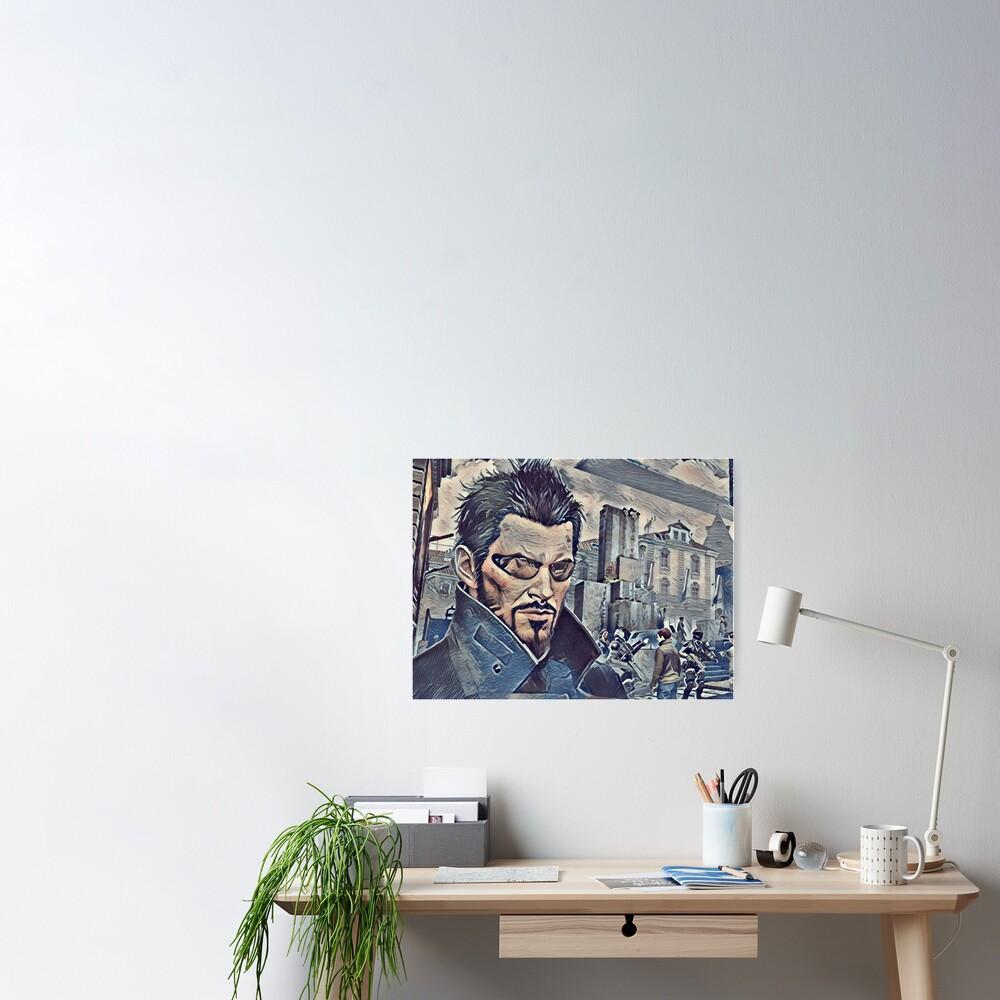Deus Ex Adam Jensen Game Art Poster