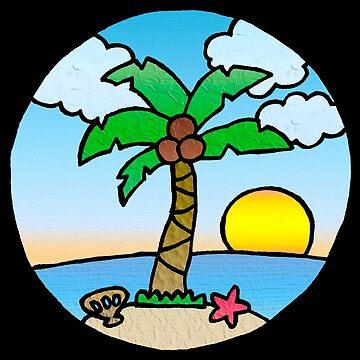 Tropical Island Beach Scene by gorff