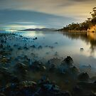 Bioluminescent Seascape by Blackpaw  Photography