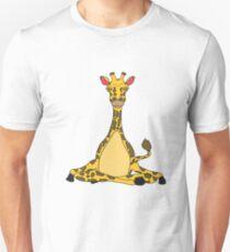 Giraffe Yoga Lustige Süße Unisex T-Shirt