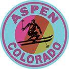 ASPEN COLORADO Ski Skiing Mountain Mountains Skiing Snowboard by MyHandmadeSigns