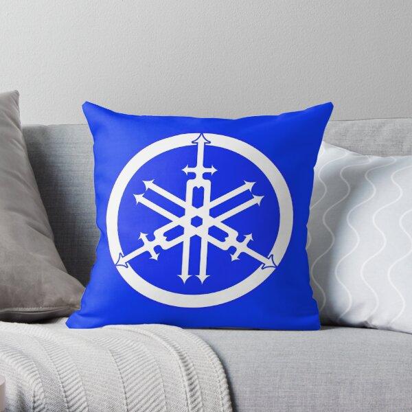 Yamaha in Blue Throw Pillow
