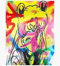 Graffiti Sailor Moon Poster